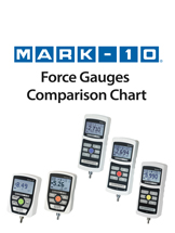 Force Gauges Comparison Chart